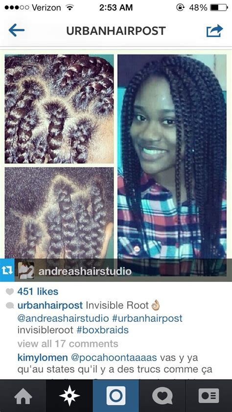 invisible roots box braid 440 best images about braided protective style on