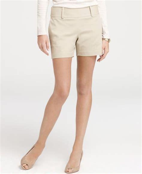 Zip Side Shorts cotton side zip shorts in beige rope lyst