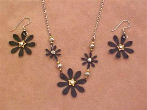 how to make flower jewelry how to make black metal flower jewelry hgtv