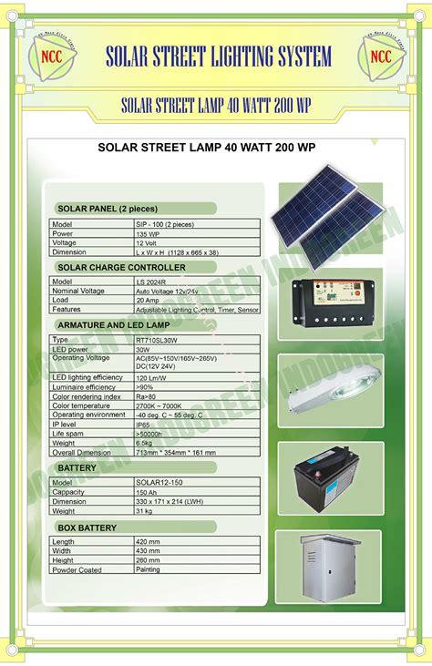 Ac Tenaga Surya jual paket pju solar cell 40 watt tenaga surya harga murah