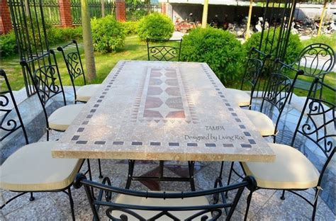 marble patio furniture ta 78 quot 94 quot mosaic marble garden patio table
