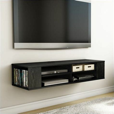 floating media shelf wall mounted media console tv stand entertainment center
