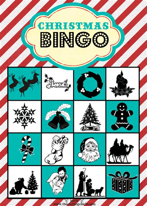 printable christmas bingo game cards christmas bingo free printable download the crafting
