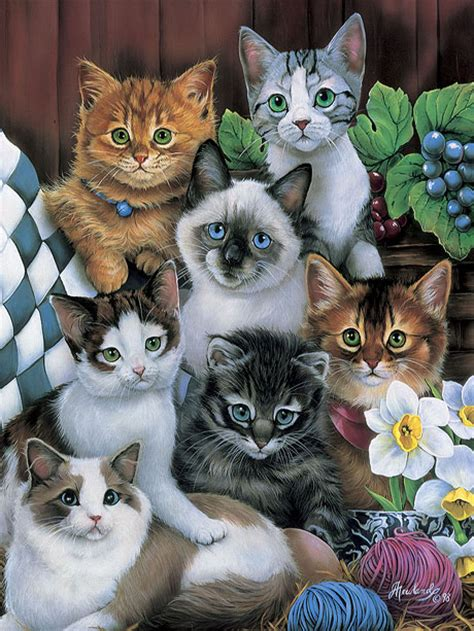 Jigsaw Puzzle Schmidt Cuddly Cats 1000 Pieces kitten puzzles images