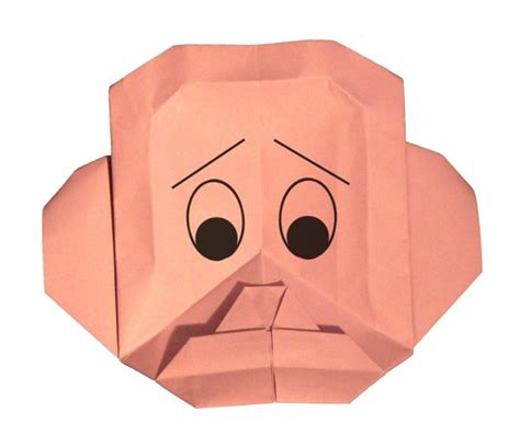 Origami Faces - animated origami faces joel paperworks