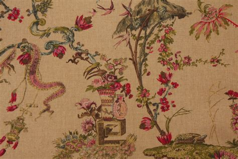 toile upholstery fabric hamilton fabrics yosca linen toile drapery fabric in honey