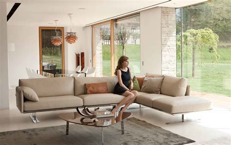 contemporary style leather curved corner sofa sacramento california antonio salotti italy gaber