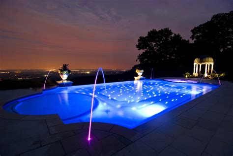 Pool Landscape Lighting Swimming Pool Lighting Ideas Home Design Inside