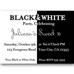 Black And White Invitations Templates by Black And White Invitations Theruntime