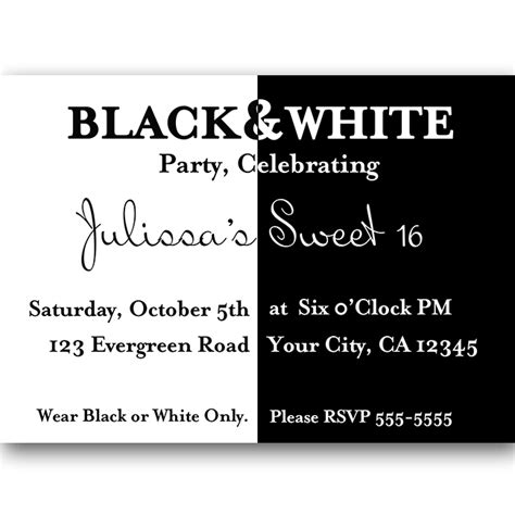 printable birthday party invitations in black and white black and white party invitations theruntime com