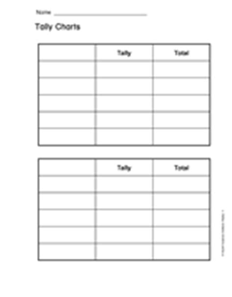 Tally Chart Template Printable
