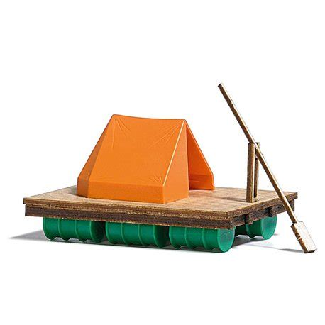 wooden tent wooden raft and tent