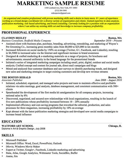 examples of human resource projects writing resume