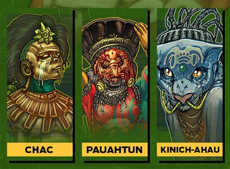 dioses mayas imagenes y nombres cuales eran los dioses de los mayas