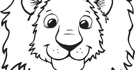 coloring page of lion head kids coloring sheet of a lions head coloring pages