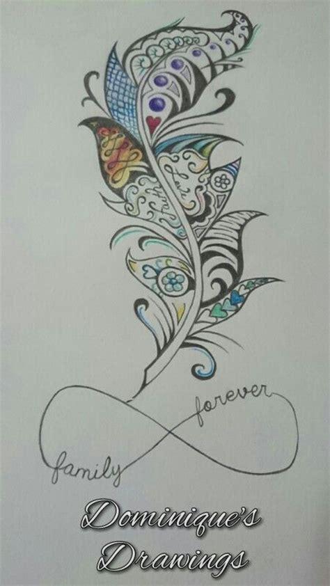 forever custom tattoos family forever feather design sephira85 someting