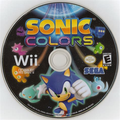 sonic colors wii file sonic colors wii us disc png sonic retro