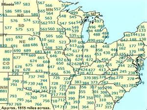 Illinois Area Code Map by Zip Codes Illinois Map