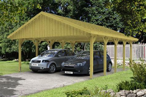 carport günstig kaufen holz carport skanholz 171 sauerland doppelcarport mit
