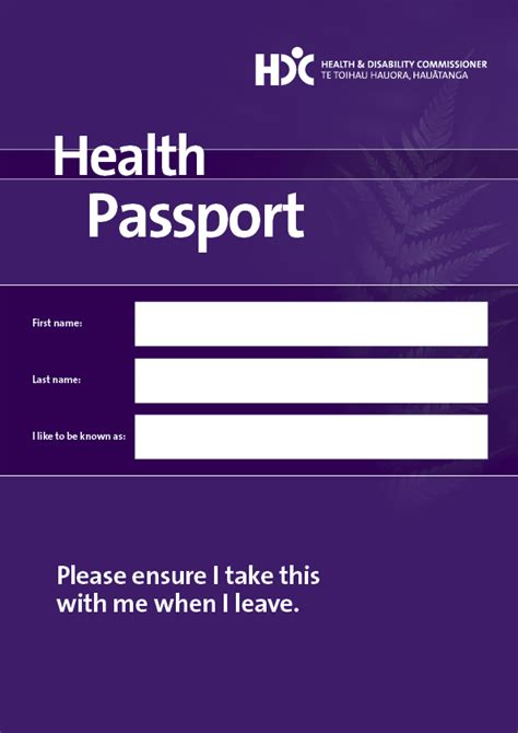 commissioner download your health passport