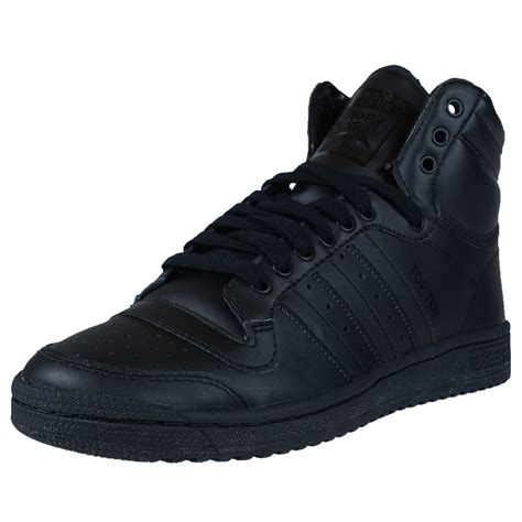 adidas s top ten hi basketball shoes black black black c75323 ebay
