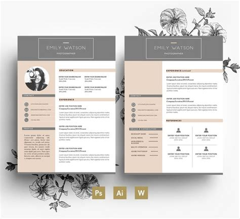 creative cv template pages professional cv cover letters and business cards on pinterest