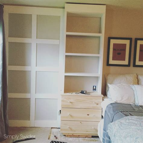 master bedroom built ins built ins in the master bedroom with an ikea hack simply