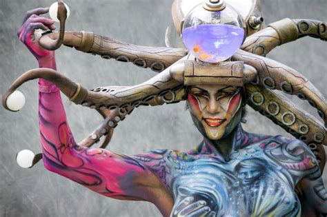 photos from world bodypainting festival in austria