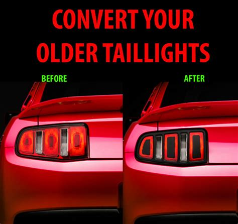 2012 ford mustang tail lights 2010 2011 2012 ford mustang taillight conversion kit
