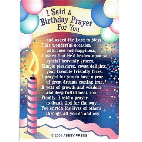 Birthday Prayer For by I Said A Birthday Prayer For You Pocket Prayer Card 31220