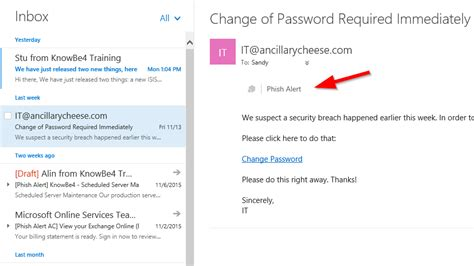 Office 365 Outlook Email Template How Do I Change The Phish Alert Text For Server Based Pab