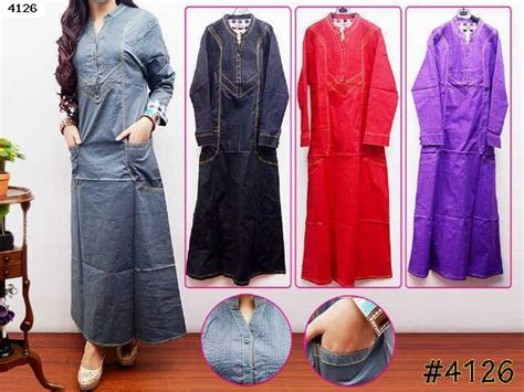 Po Rok Import High Quality Premium A41813 jual maxi dress gamis safira two pocket 4126 auroraku
