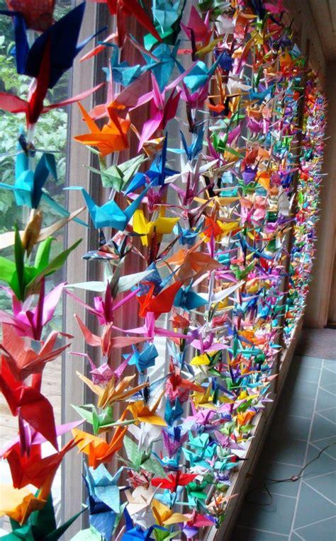 hiasan jendela kelas  kertas origami tk sd paud
