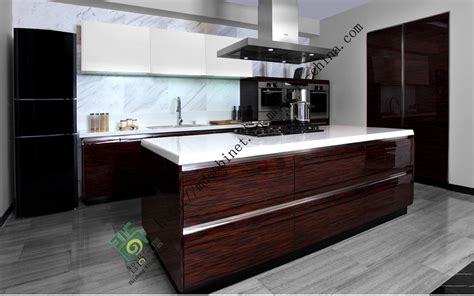 High Gloss Lacquer Kitchen Cabinets China High Gloss Uv Kitchen Cabinet Zs 088 Photos Pictures Made In China