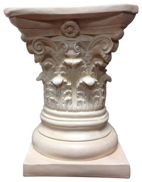 Column Pedestal Base Classic Statuary Corinthian Pedestal Column Table Base