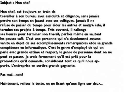 Court Resume Au Bonheur Des by Texte Amusant 224 Lire En Entier Puis Une Ligne Sur Deux