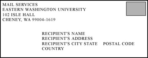letter address format international ewu addressing u s mail