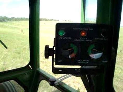 baling hay with the deere 530 baler and the