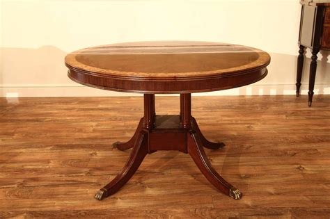 48 Pedestal Table With Leaf by Small 48 Inch Mahogany Pedestal Dining Table With Leaf