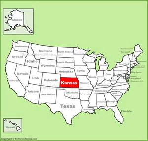 us map kansas state kansas location on the u s map