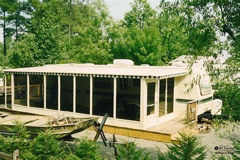 screen room cing add roof deck to rv best image voixmag