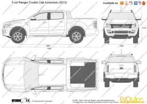 Ford Ranger Dimensions The Blueprints Vector Drawing Ford Ranger