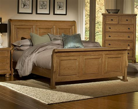 Oak Sleigh Bed Vaughan Bassett Furniture Bed 550 Buy Reflections Oak Sleigh Bed