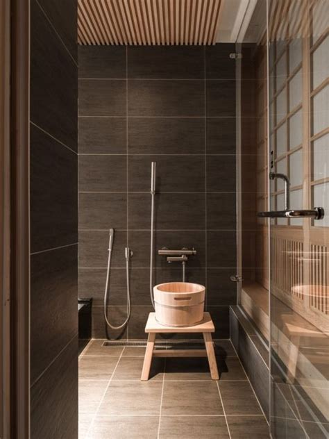 brown bathroom tile 30 peaceful japanese inspired bathroom d 233 cor ideas digsdigs