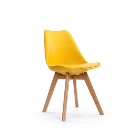 Chaise Scandinave by Chaise Design Scandinave Pas Cher Loumi Jaune