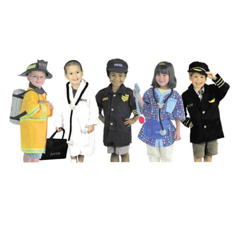 dramatic play costumes career set set of 5