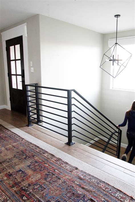 handrails and banisters all the details on our new horizontal stair railing