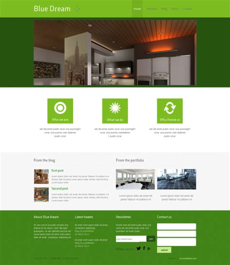 home design website templates free download free interior design web template templates perfect