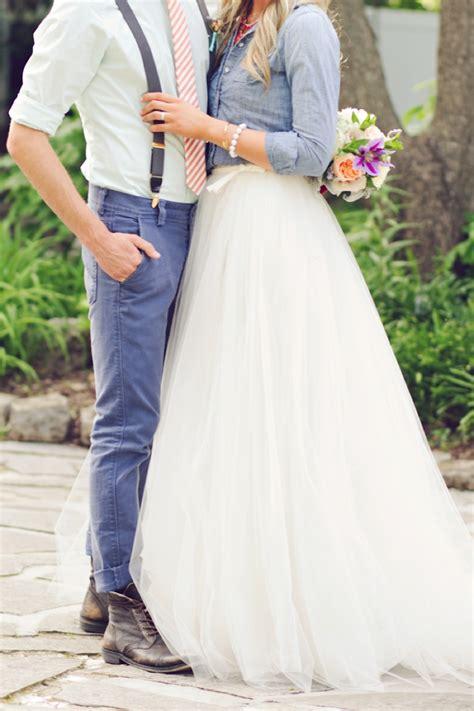 casual wedding attire ideas denim and watercolor wedding ideas every last detail