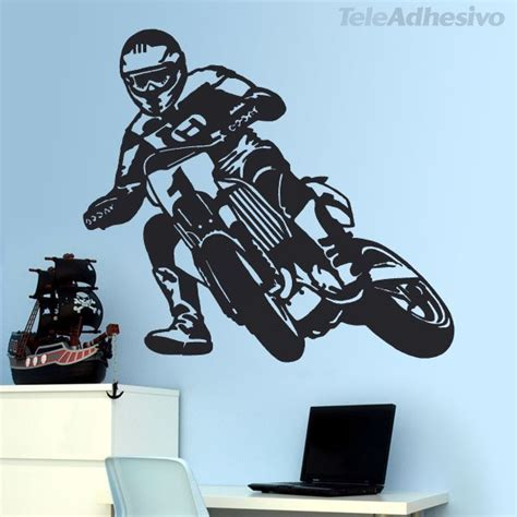 Boy Bedroom Wall Stickers moto cross